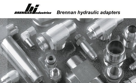 Brennan Industries hydraulic adapters available at Red-L Distributors Alberta