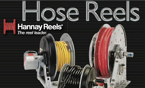 Hose reels by Hannay Reels available at Red-L Distributors Alberta